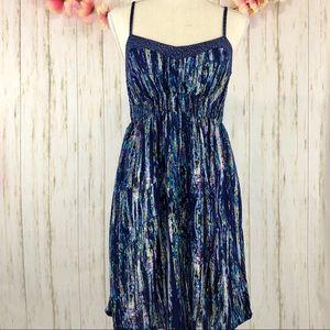 XHILARATION Spaghetti Strap Print Dress W/ Pockets